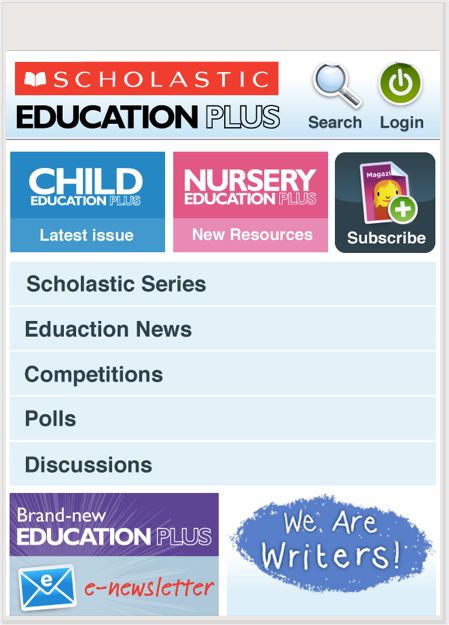 Mobile view of User experience design manager for large e-commerce and resources platform at Scholastic